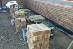 A bricklaying site in Leicester