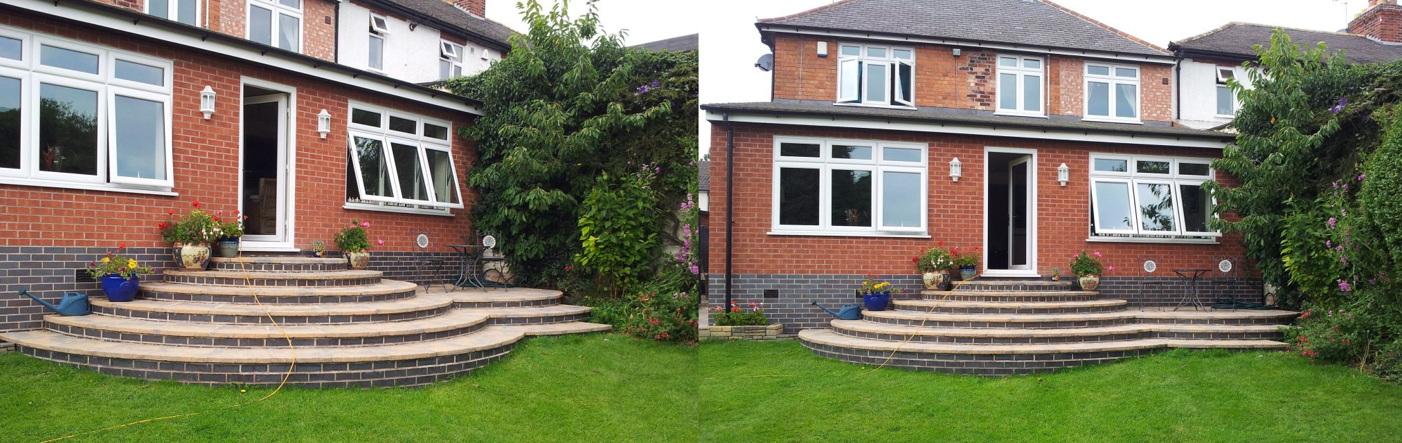 Two previous patios in Leicester from Heritage Builders